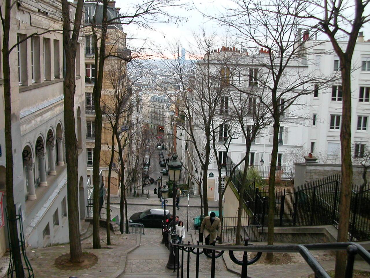 フランスのモンマルトルの階段